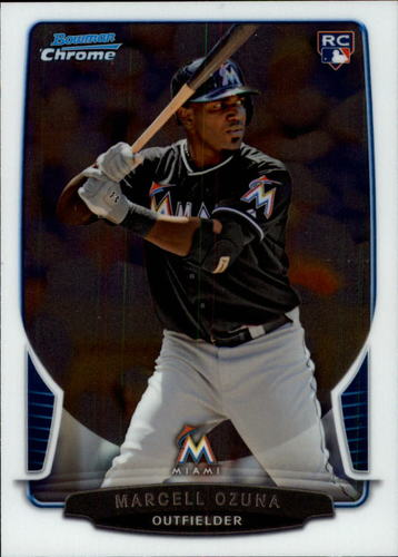 Photo of 2013 Bowman Chrome Draft #17 Marcell Ozuna  Rookie Card
