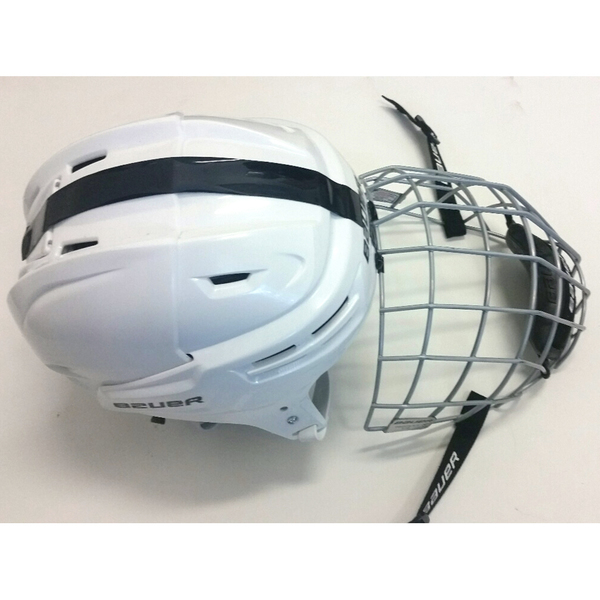 Photo of Penn State Game-Used Men's Ice Hockey Helmet (White #20)