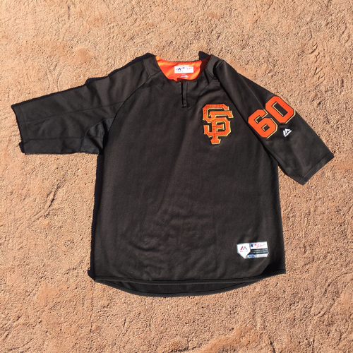 San Francisco Giants - 2017 Game-Used Batting Practice Jersey Worn by #60 Hunter Strickland (Size: XL)