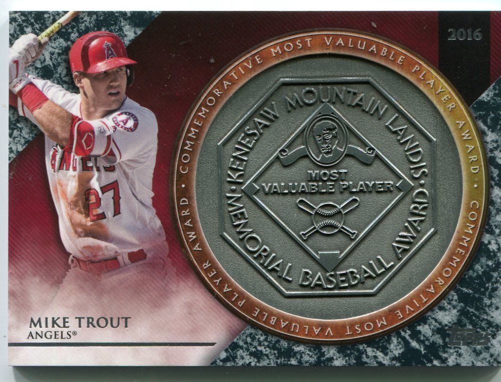 2017 Topps Update MVP Award Relics #MVPRMTO Mike Trout