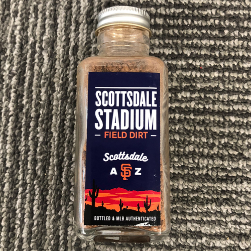 Photo of San Francisco Giants - Field Dirt - Scottsdale Stadium Game-Used Dirt Jar