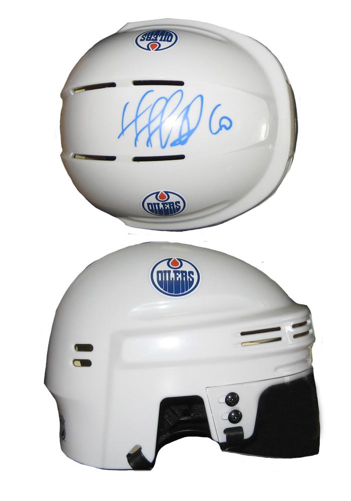 Nail Yakupov - Signed Mini Helmet White Edmonton Oilers