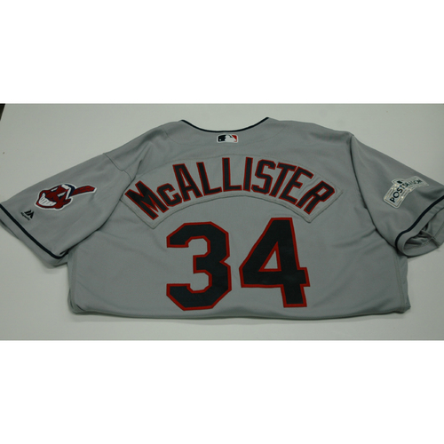 Photo of Zach McAllister 2017 Team-Issued Postseason Road Jersey
