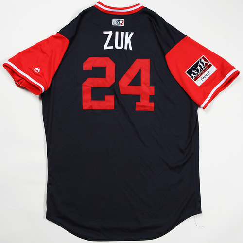 "Photo of Kurt ""Zuk"" Suzuki Atlanta Braves Game-Used Jersey 2018 Players' Weekend Jersey"