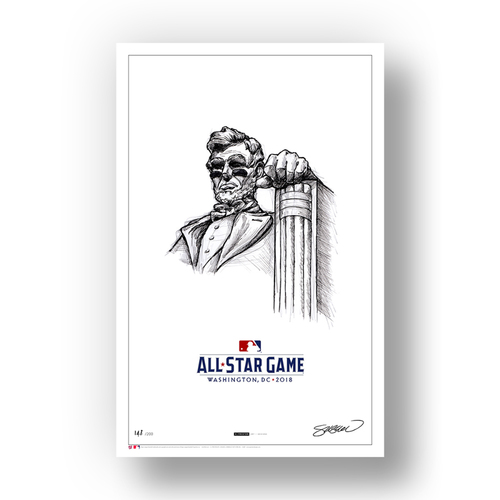 Photo of Limited Edition 2018 All-Star Game Illustration Sketch Print by S. Preston
