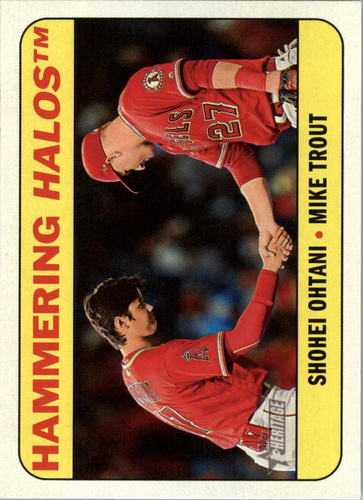 Photo of 2018 Topps Heritage Combo Cards #CC1 Mike Trout/Shohei Ohtani