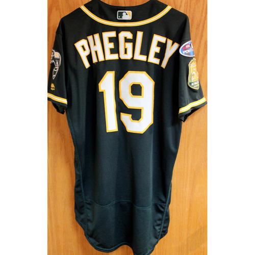 Photo of Game-Used Jersey: Josh Phegley AL Wild Card Game 10/3/18