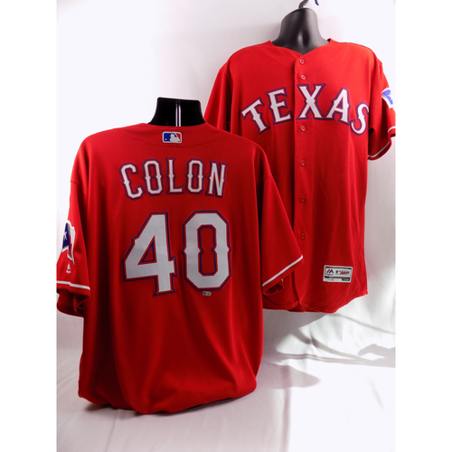 Photo of 9/19/18 - Game-Used Red Jersey - Bartolo Colon