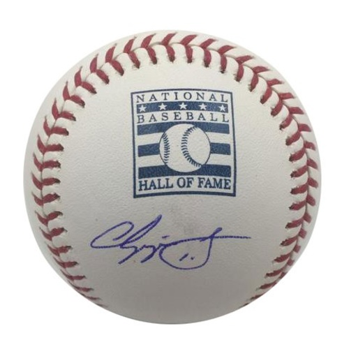 Photo of Chipper Jones Autographed HOF Logo Baseball