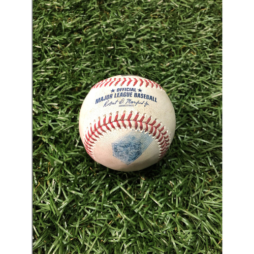 20th Anniversary Game Used Baseball: Mark Trumbo strike out and Chris Davis foul ball off Tyler Glasnow - August 7, 2018 v BAL