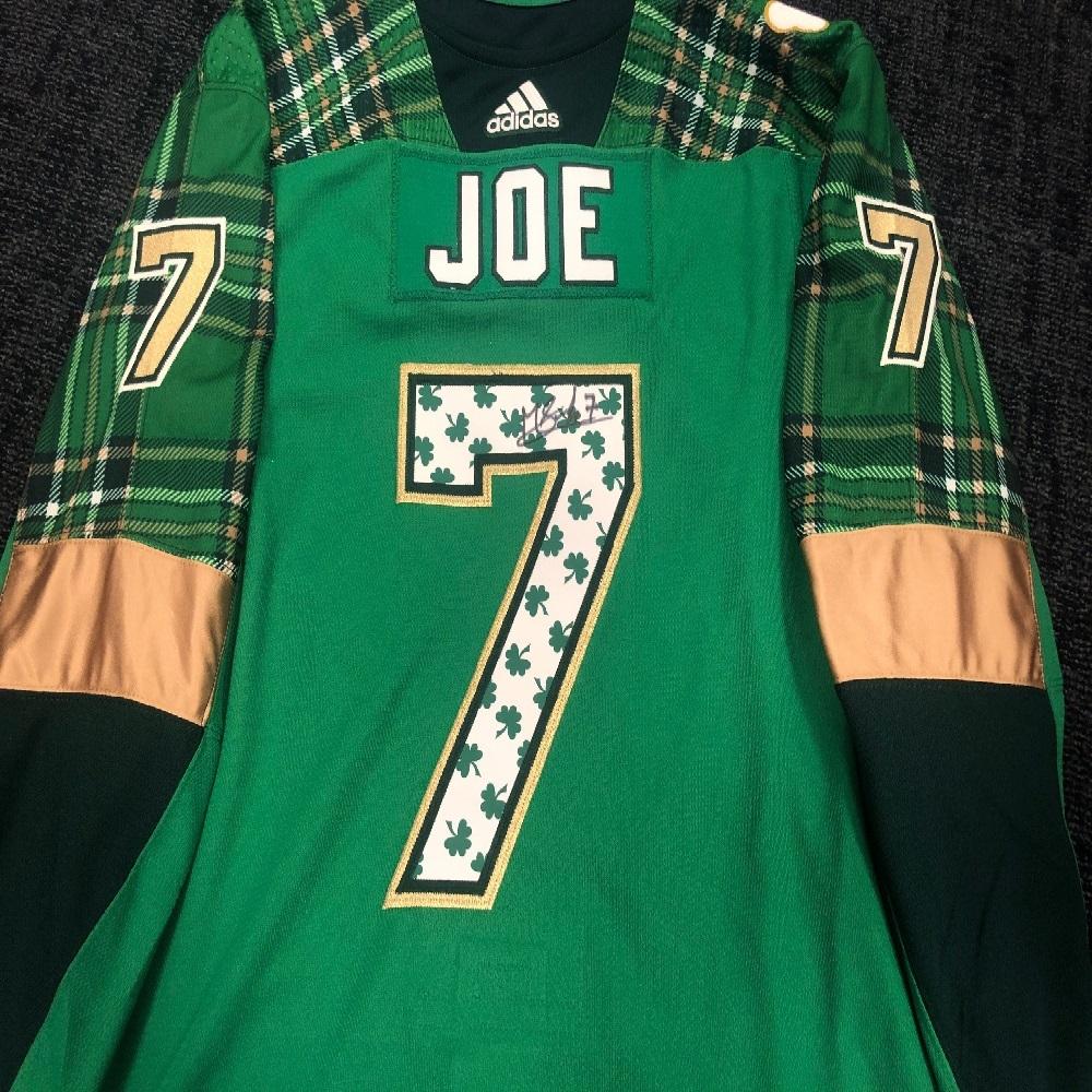 #7 Mathieu Joseph Tampa Bay Lightning Green Warm-Up Nickname Jersey
