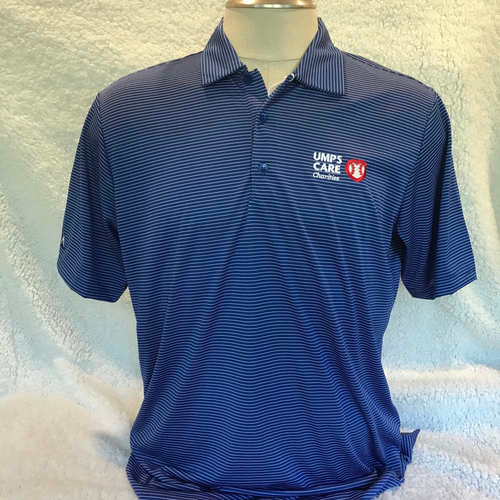Photo of UMPS CARE AUCTION: UMPS CARE Antigua Quest Polo Shirt, Dark Royal/White, Size L