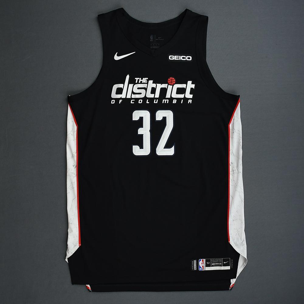 Jeff Green - Washington Wizards - 2018-19 Season - Game-Worn Black City Edition Jersey - Dressed, Did Not Play