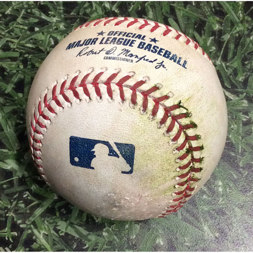 Photo of Game-Used Baseball SF@MIL 07/12/19 - Will Smith - Christian Yelich: Triple