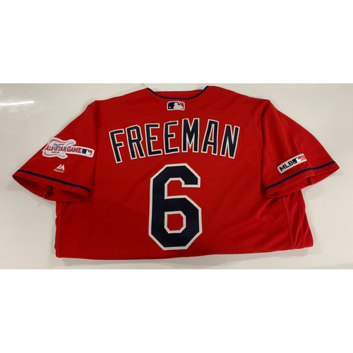 Photo of Mike Freeman Game Used Alternate Home Jersey