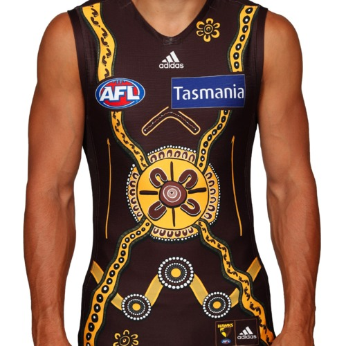 Photo of #19 Jack Gunston Signed & Match Worn Indigenous Guernsey