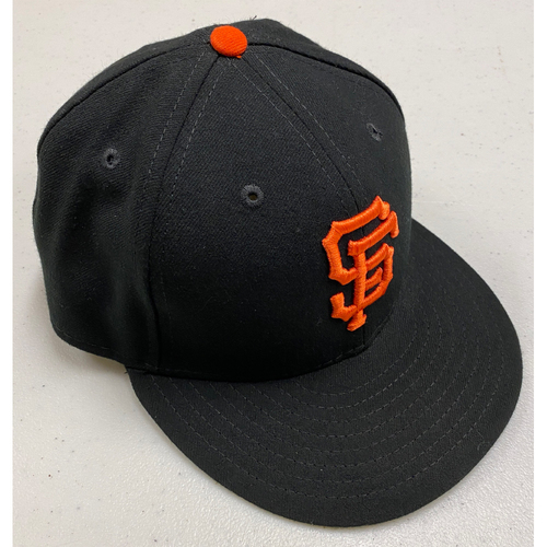 Photo of 2019 Game-Used Regular Season Black Cap - #75 Enderson Franco - Size 7 1/4