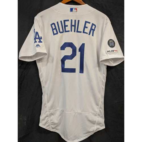 Walker Buehler Team Issued 2019 Home Jersey