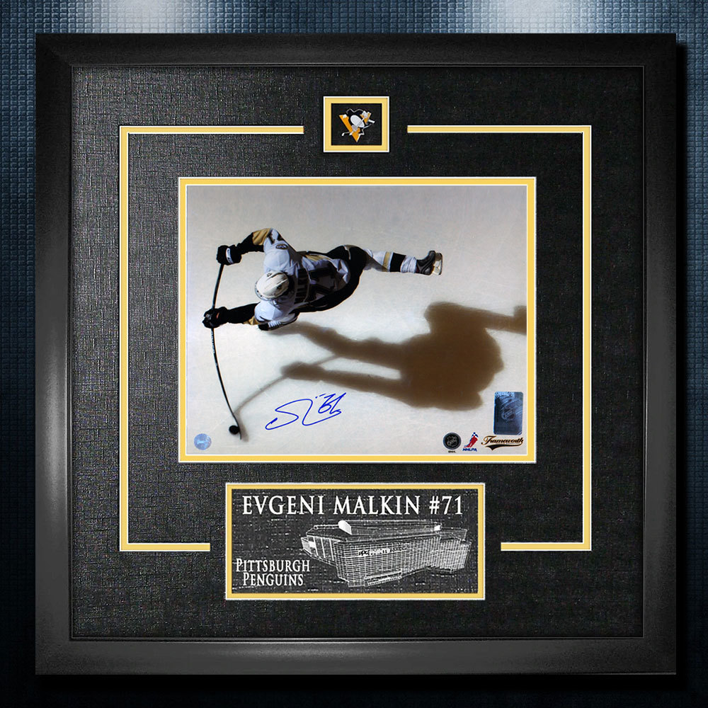 Evgeni Malkin Pittsburgh Penguins Autographed Overhead 18x22 Frame