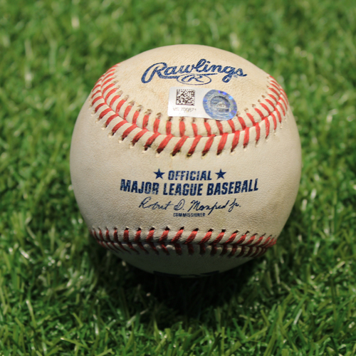 Photo of Game-Used Baseball: Michael A. Taylor Walk-Off RBI Single (CWS@KC 7/29/21)