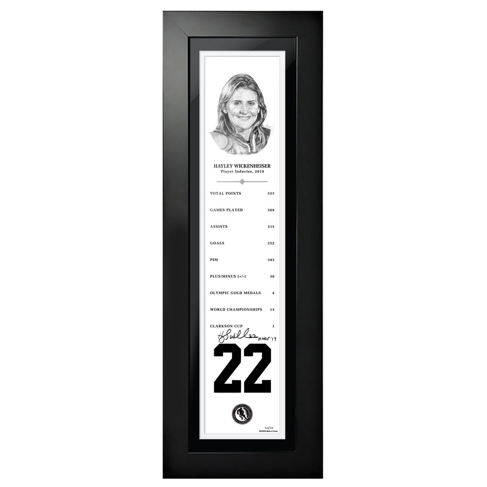 Hayley Wickenheiser Autographed Legends Line Honoured Member Stats Frame - Limited Edition 9/10