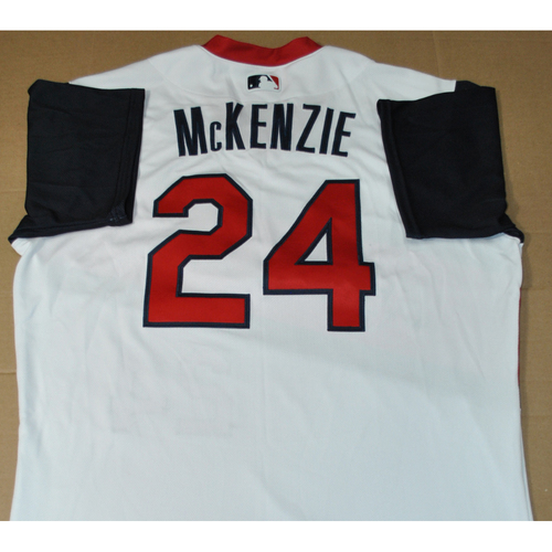 Photo of Game-used Jersey - 2021 Little League Classic - Los Angeles Angels vs. Cleveland Indians - 8/22/2021 - Great Lakes, Player Name: Triston McKenzie #24