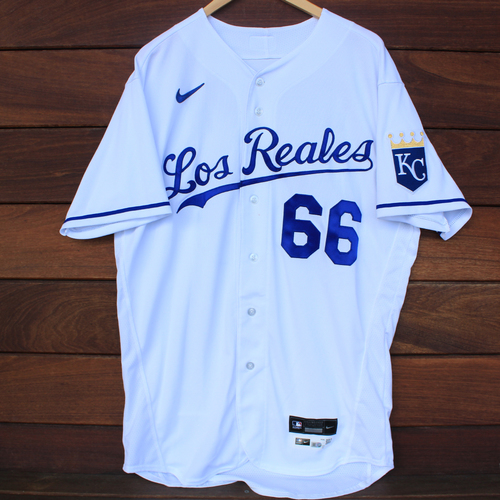 Photo of Game-Used Los Reales Jersey: Ryan O'Hearn #66 (SEA@KC 9/17/21) - Size 46