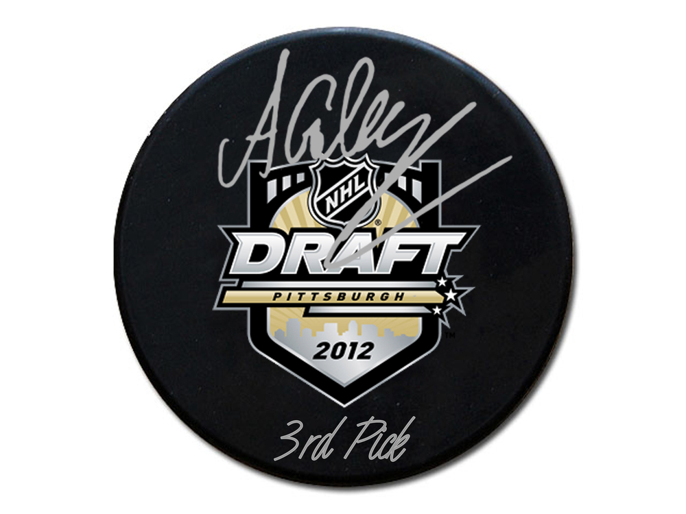 Alex Galchenyuk - Signed & Inscribed 2012 Draft Puck - Inscribed