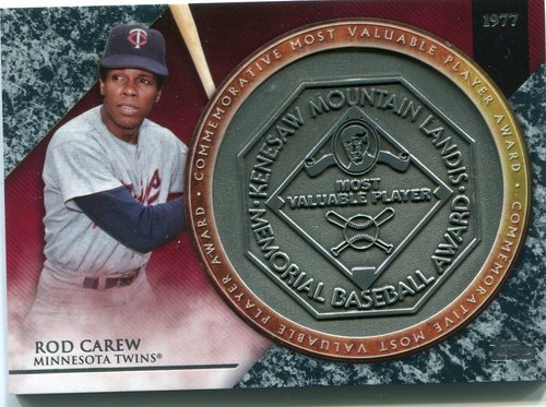 Photo of 2017 Topps Update MVP Award Relics #MVPRRCA Rod Carew