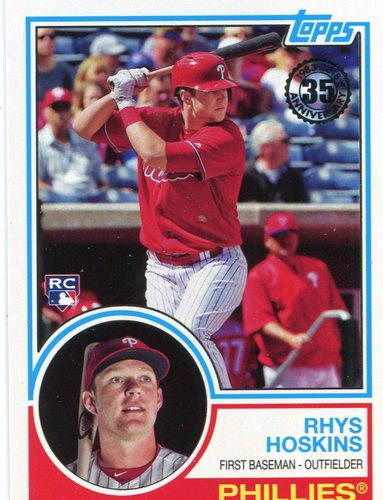 Photo of 2018 Topps '83 Topps #8330 Rhys Hoskins