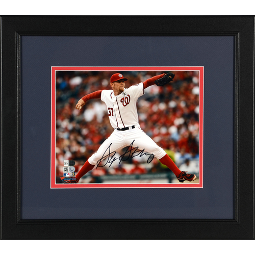 "Photo of Stephen Strasburg Washington Nationals Framed Autographed 8"" x 10"" Photo"