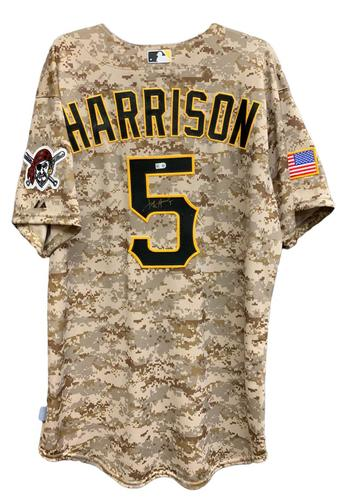 Photo of Josh Harrison Autographed Camo Jersey