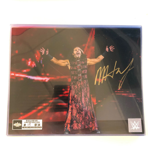 Matt Hardy SIGNED 8 x 10 Limited Edition WrestleMania Photo (Random Number)