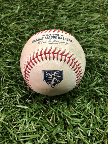 Photo of 20th Anniversary Game Used Baseball: Blake Snell strikes out J.D. Davis and ball in dirt to Aledmys Diaz - September 29, 2018 v TOR