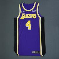 Alex Caruso - Los Angeles Lakers - Game-Issued Statement Edition Jersey - 2018-19 Season