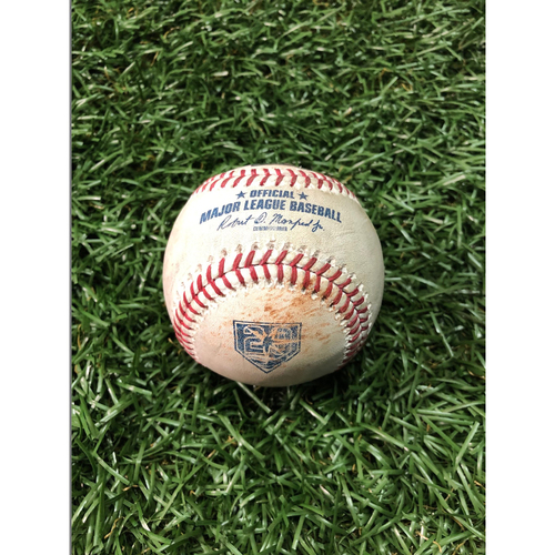 20th Anniversary Game Used Baseball: J.D. Martinez double off Ryan Yarbrough - August 25, 2018 v BOS