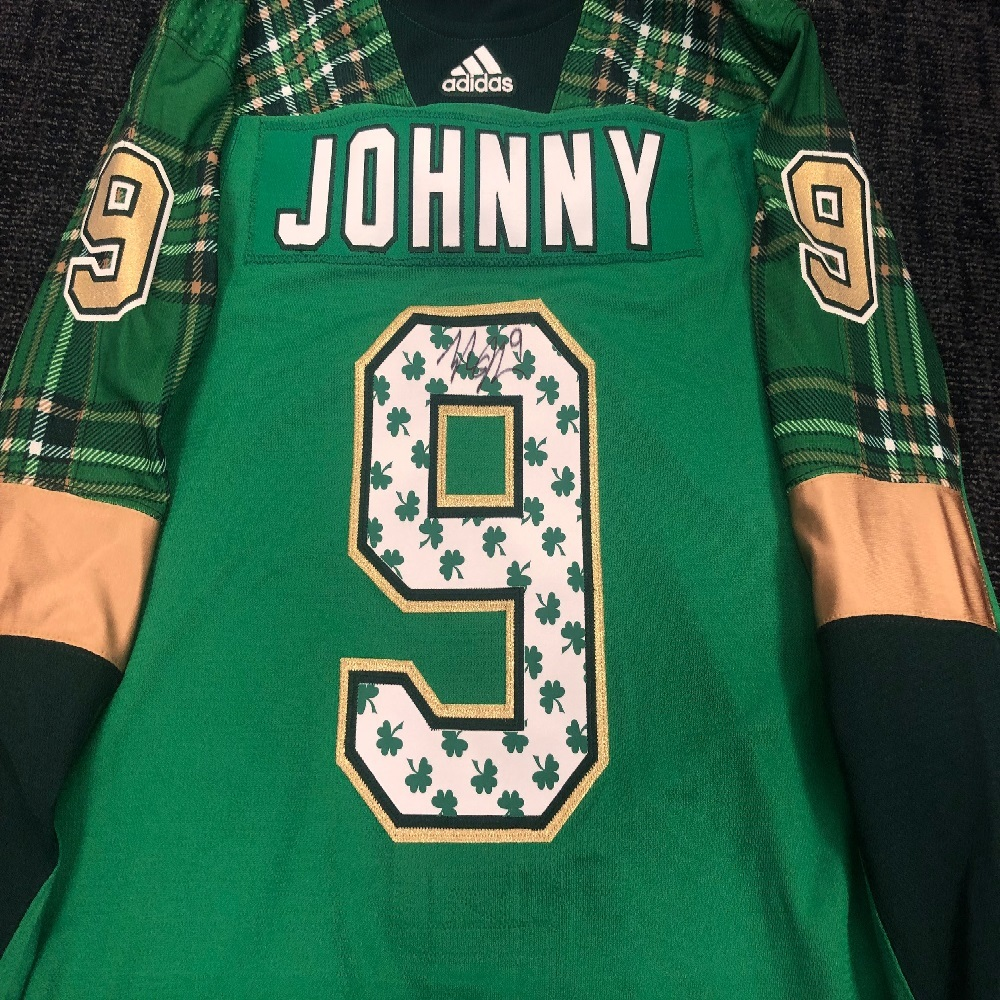 #9 Tyler Johnson Tampa Bay Lightning Green Warm-Up Nickname Jersey