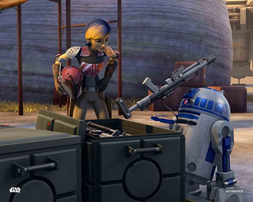 Sabine Wren and R2-D2