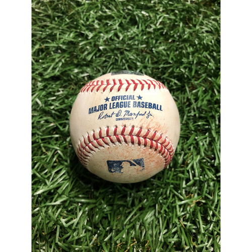 Photo of Game Used Baseball: Jonathan Villar RBI triple and Trey Mancini fielder's choice off Jose Alvarado - July 3, 2019 v BAL