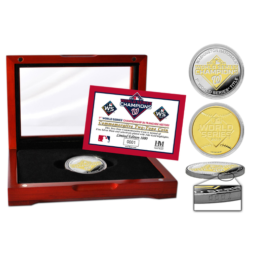 Photo of Washington Nationals 2019 World Series Champions Two-Tone Mint Coin
