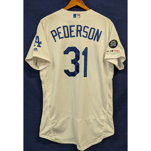 Photo of Joc Pederson Game Used Home 25th Home Run of 2019 Jersey
