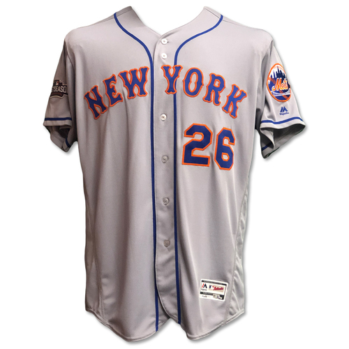 Photo of Kevin Plawecki #26 - Team Issued Road Grey Jersey - 2016 Postseason