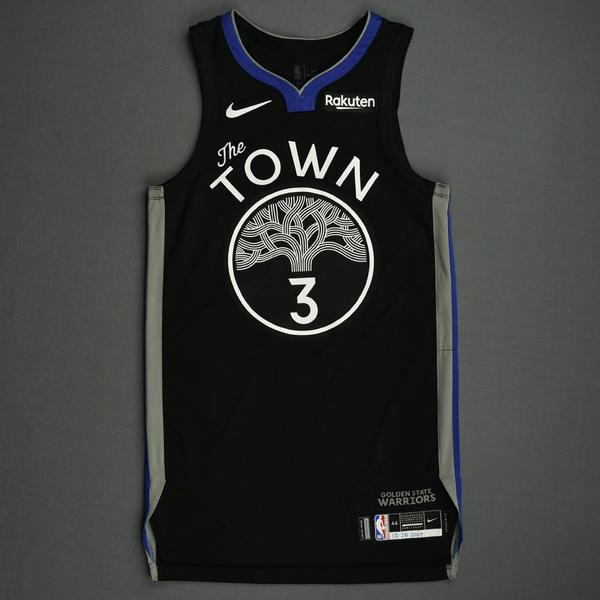 Image of Jordan Poole - Golden State Warriors - Christmas Day' 19 - Game-Worn City Edition Jersey - Dressed, Did Not Play