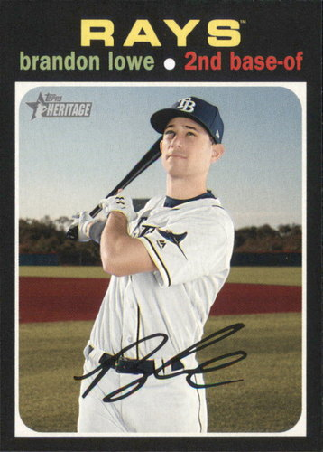Photo of 2020 Topps Heritage #255 Brandon Lowe
