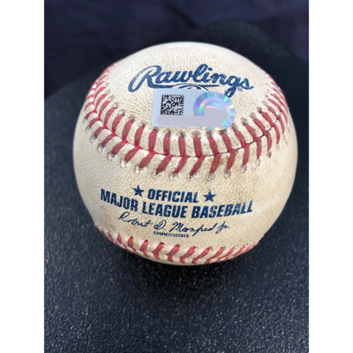 Game-Used Baseball - 2020 ALCS - Tampa Bay Rays vs. Houston Astros - Game 3 - Pitcher: Ryan Yarbrough, Batter: George Springer (Strike Out) - Bot 1