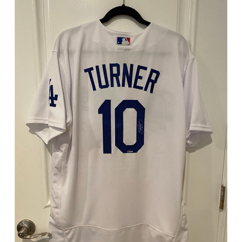 Photo of Justin Turner Authentic Autographed Los Angeles Dodgers Jersey