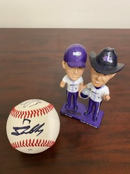 Photo of Ty and Austin Dillon Signed Bobblehead and Baseball package
