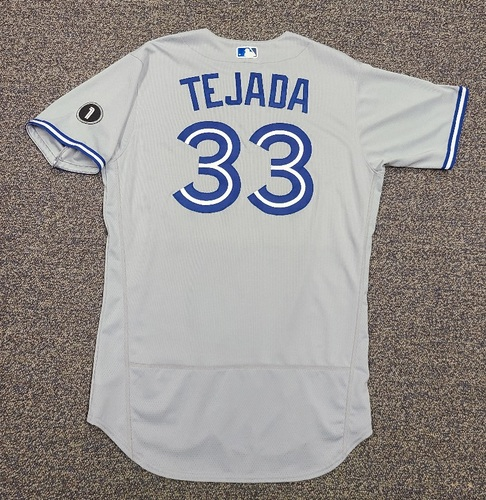 Photo of Authenticated Team Issued Jersey: #33 Ruben Tejada (2020 Season). Set 1. Size 46.