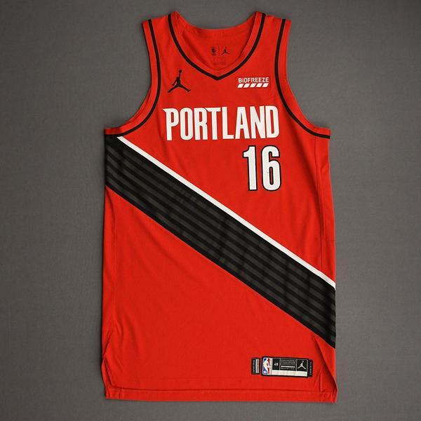 Image of CJ Elleby - Portland Trail Blazers - Game-Worn Statement Edition Jersey - Dressed, Did Not Play (DNP) - 2021 NBA Playoffs