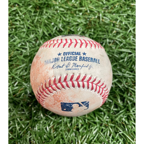 Photo of Game Used Baseball: Cedric Mullins single off Rich Hill - Top 4 - June 12, 2021 v BAL